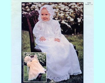 Christening Dress or Smocked Daygown, Bonnet & Slip Pattern by Chery Williams.