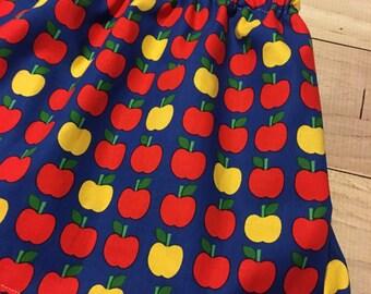 Apple skirt, girls back to school skirt, girls apple skirt, first day of school outfit, back to school outfit, apple dress