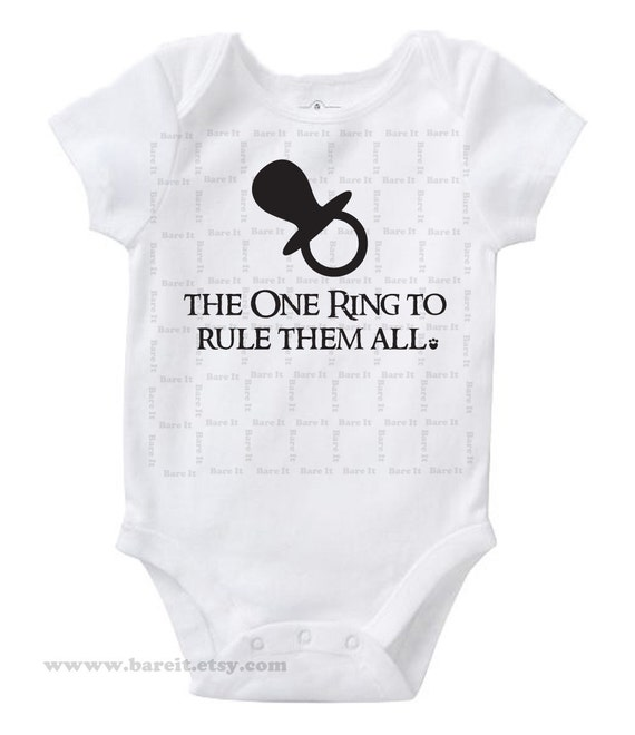The One Ring To Rule Them All Inspired By Lord of the Rings Cute Geek/Nerd Funny Humor Baby Onesie Size 3,6,12,18,24 month Color White