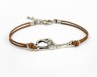 Giraffe Bracelet, Caramel Brown Cord Bracelet, Friendship Bracelet, Animal Bracelet, 25 Colors Available