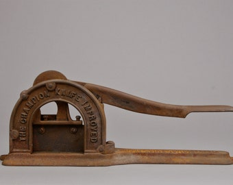 Antique Plug Tobacco Cutter, The Champion Knife Improved, Enterprise Mfg. Co. Philadelphia, Historic Country Store Equipment