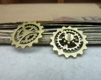 30pcs 22mm antique bronze gear charms pendant C8120
