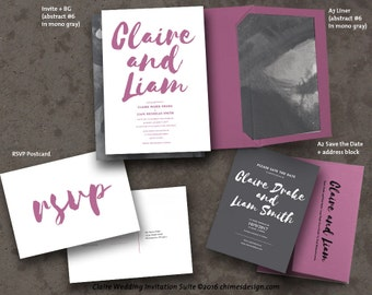 CLAIRE Invitation Suite Printables