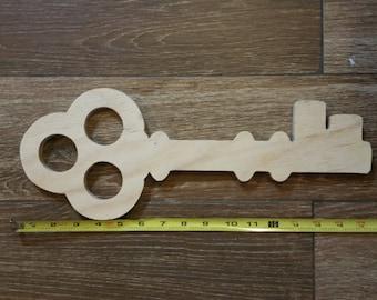 Unfinished wood Santa key