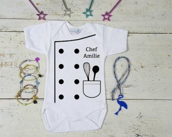 Baby Chef Outfit Onesie, Custom Baby French Chef Onesie, Foodie Costume, Funny Baby Shower Gift, Baby Clothes