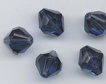 Six vintage Swarovski crystal beads: Art. 5304 - 12 mm - montana AB