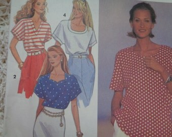 Simplicity 8373 Womens 2 Hour Pullover Tops Shirt Blouse 4 Styles size 6 8 10 12 14 16 Vintage Petite to Plus Size Sewing Pattern Uncut