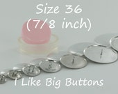 50 WIRE BACK Size 36 (7/8 Inch) Fabric Cover Buttons/Button (Ships from the USA) Use to make Fabric Covered Buttons