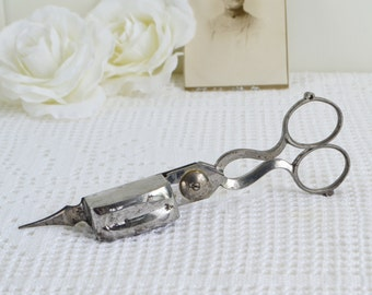 Metal candle snuffer, vintage shabby candle tool , candle scissor, wick cutter