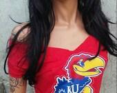 KU Kansas JayHawks Shredded Shirt Sports Shirt