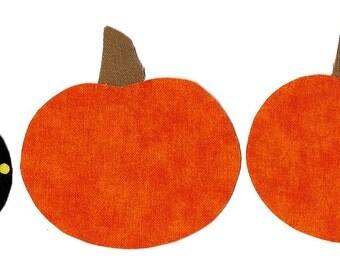 Halloween Boo iron applique DIY