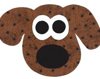 Puppy dog iron on fabric applique DIY