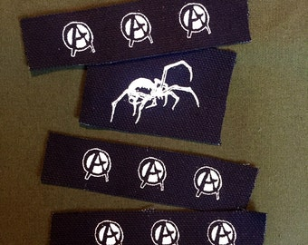 Anti Cimex anarchy patches or spider mini canvas patches