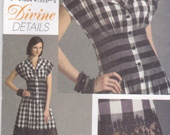 2007 Sewing Pattern - Vogue V8353 Misses Dress Size 12-16 Factory folded and complete