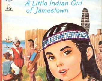 Pocahontas A Little Indian Girl of Jamestown Vintage Rand McNally Tip Top Elf Book by Frances Cavanah Illustrated by Manning de V. Lee