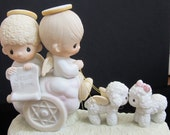 "Hold for Karen New Listing Precious Moments Porcelain Figurine ""Jesus Is Born"" 1979 Original Box Included."