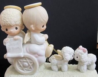 "New Listing Precious Moments Porcelain Figurine ""Jesus Is Born"" 1979 Original Box Included."
