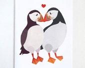 Puffin Love Valentine's Day Card