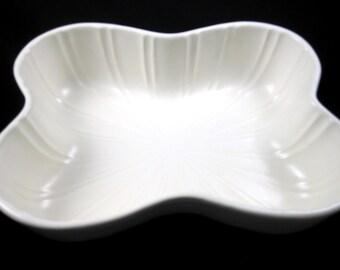 Vintage Mid-Century USA Pottery White Bowl