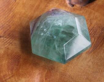 Fluorite Faceted Slab #20365