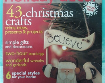 The Holiday Decor Christmas magazine back issue 82 pages used 2002