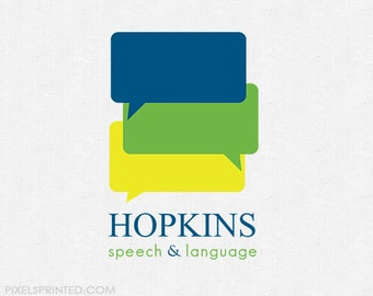 pre made logo for SLP (speech language pathologists)