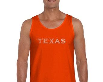 Men's Tank Top - The Great Cities Of Texas