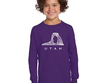 Girl's Long Sleeve T-Shirt - UTAH