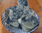 Tea Tree Activated Charcoal Soap -  Handmade soap with Shea and Cocoa Butter -  Handmade in BC, Canada