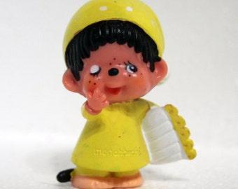 Monchhichi ready for bed monkey PVC figure vintage toy