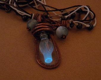 Glow in the dark, Edison Steampunk Necklace
