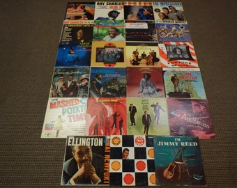 Crafting Lot Of (23) 1950's-60's JAZZ,BLUES,R&B Vocal Used Vinyl Record Albums For Crafting