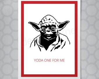 Funny Illustrated Star Wars Yoda Card