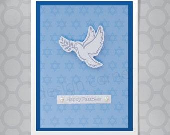 White Dove Dimensional Passover Card