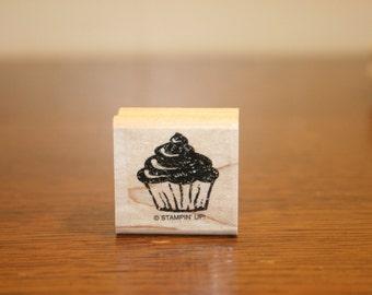 Cupcake Stampin Up Stamp,cupcake stamp,cup cake stamp,birthday stamp,stampin up,stampin up stamp,quinceanera stamp,dessert stamp,icing stamp