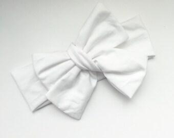 White Head Wrap, Toddler Head Wrap, White, Head Wrap, White Headband, Christening Headband, Toddler Headband, Easter Basket, Christening