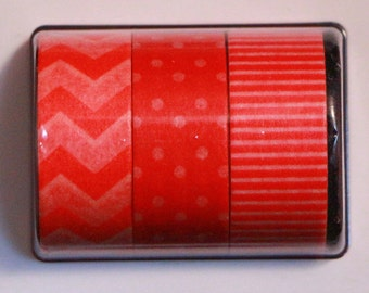 Rosy Red Washi Tape Set