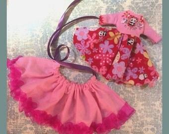 Blythe Dress Outfit Pink Red Kawaii