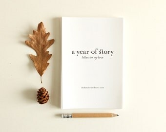 Letters to My Love: A Year of Story - Letter Writing Journal Prompts Mini Books Story Prompts Gift for Wife or Husband Anniversary Gift