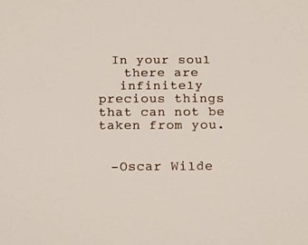 Oscar Wilde typed quote