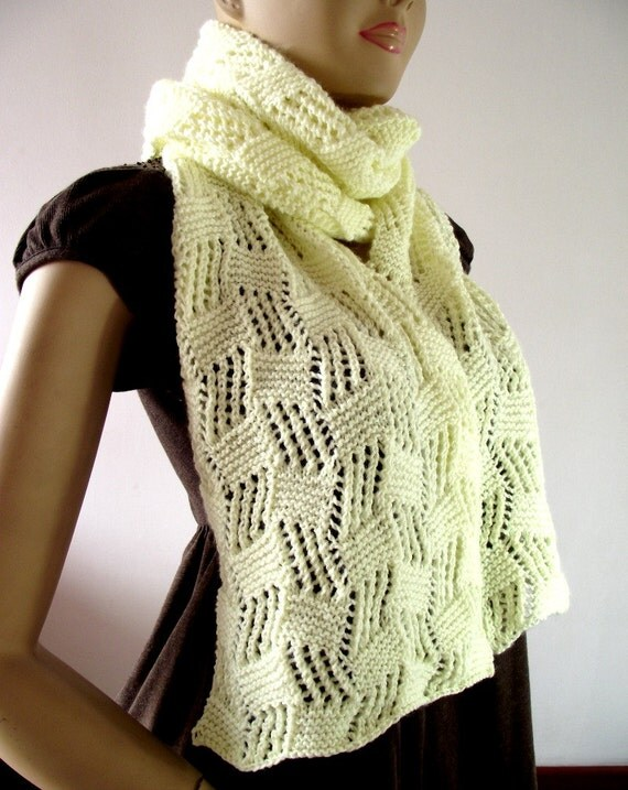 Cables Knitting Patterns : KNITTING PATTERN SCARF Cool Breeze Scarf pdf pattern Instant