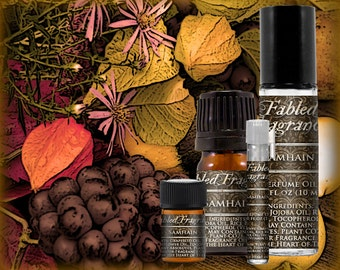 SAMHAIN Perfume: Autumn Harvest Fruit, Black Currant, Mulled Fruit, Artisan Fragrance, Vegan Solid Perfume, Ships Out in 4-7 Days
