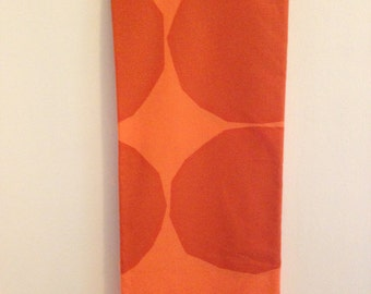 "Marimekko Fabric Designed by Maija Isola ""Kivet"" in Orange for Autumn Harvest, Halloween, Thanksgiving Decor or Sewing Projects"