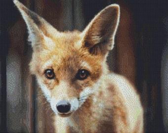 Curiosity the Fox Cross Stitch Pattern Animal Series Design Instant Download PdF