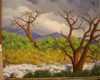 "Original Acrylic Painting on Canvas Board 9.5""x11.75"""