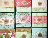 50 Wedding Favors Full Bars Handmade Soap-Soaps-Bridal Shower - Party Favors - Rustic Wedding - Custom Wedding Favors in your Wedding color