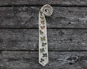 Fern Forest Embroidered Necktie