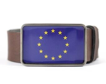 European Union Belt Buckle, EU Flag Belt Buckle, Europe belt buckle