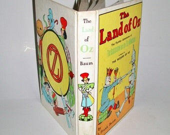 Vintage The Land of Oz Book Sequel to The Wizard of Oz L.Frank Baum 1904