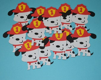 Dalmatian Fire Dog Die Cuts (12) 2.5""